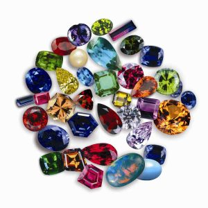 assorted coloured gemstones